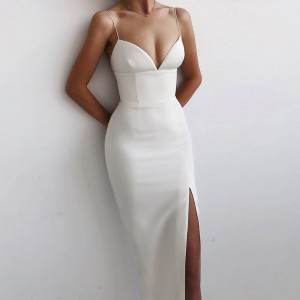 Adyce New Summer Women White Bodycon Bandage Dress Sexy V Neck Spaghetti Strap Club Celebrity Evening Runway Party Maxi Dresses