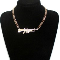 Pistol scatter-gun necklace female necklace Popular gold and silver