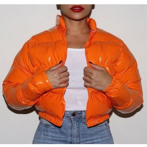 Adogirl Winter Down Jacket Women 2020 Neon Color Cropped Puffer Jacket Parka Outwear Thick Bubble Coat Fashion Streetwear 2020