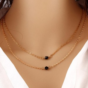 Women Necklaces Professional Jewelry Choker Multilayer Irregular Pendant Chain Statement Necklace