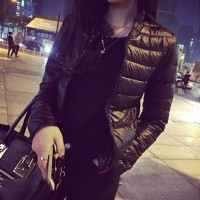 Winter & Spring Women Jacket Short Down Outwear Female Winter Coat Cotton Padded Warm Black