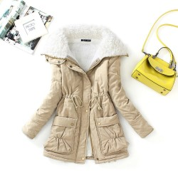 New Winter Parkas Women Slim Cotton Coat Thickness Overcoat Medium-long Plus Size Casual Overcoat Wadded Snow Outwear