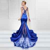 Deep V-Neck Elegant Gowns Sleeveless Long Mermaid Party Dress Women Brief Design Maxi Dress