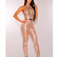 Gold glitter sequin bodysuit sexy rompers womens jumpsuit bodies ladies body suit jumpsuits for women Black