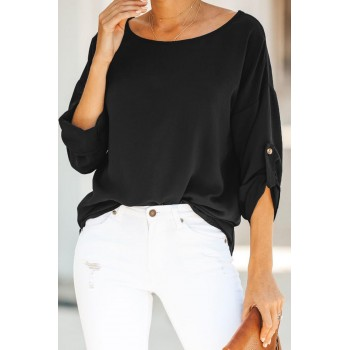 Pink Take Note Blouse Black
