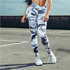 Ins Hot Fashion Workout Leggings For Women High Waist Push Up Legging Camouflage Printed Female Fitness Pants Casual Trousers