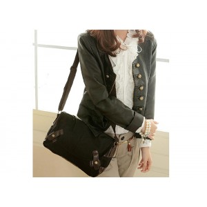 Casual Women's Crossbody Bag With Canvas and Splicing Design
