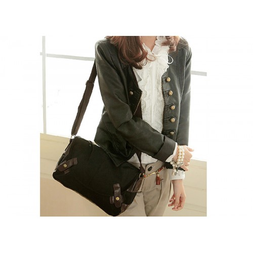 Casual Women S Crossbody Bag With Canvas And Splicing Design