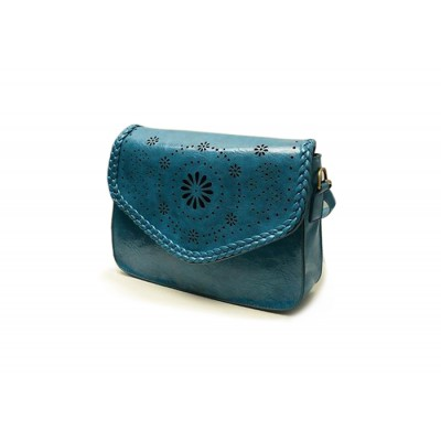 Casual Women's Crossbody Bag With Hollow Out and Weaving Design
