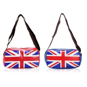 Casual Women's Crossbody Bag With PU Leather and Flag Design