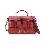 Casual Women's Crossbody Bag With Pure Color Buckle and Tote Design