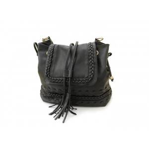 Casual Women's Crossbody Bag With Weaving and Tassels Design