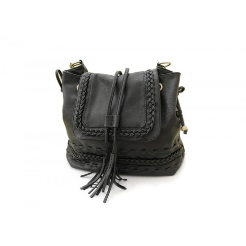 Casual Women S Crossbody Bag With Weaving And Tassels Design