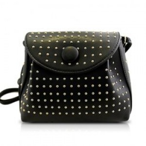 Elegant Women's Crossbody Bag With Rivets and Candy Color Design
