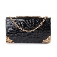 Elegant Women's Shoulder Bag With Metallic and Chains Design