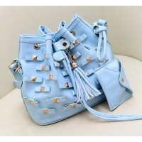 Fashion Women's Crossbody Bag With Rivets and Tassels Design