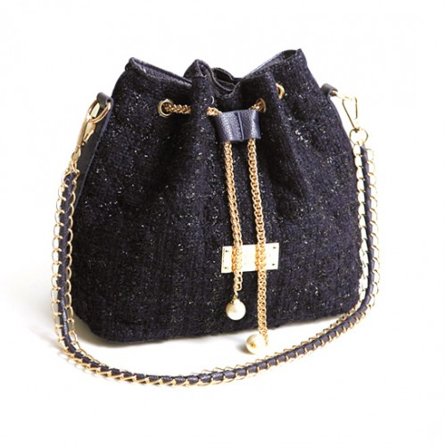5b5e4a89909d Stylish Women s Shoulder Bag With Houndstooth and Chains Design ...