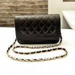 Gorgeous Women's Crossbody Bag With Checked and Chains Design
