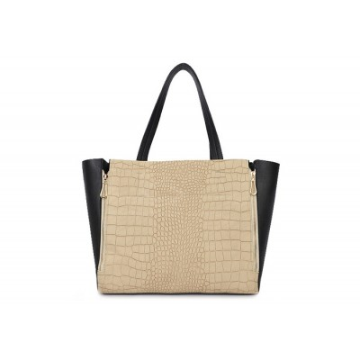 Laconic Women's Shoulder Bag With Snake Pattern and Zipper Design