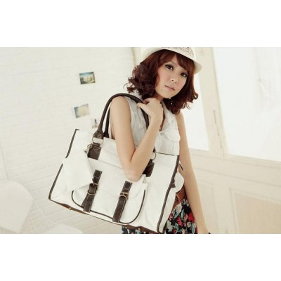 New Arrival Solid Color Zipper Big Bag For Women
