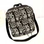 Preppy Women's Crossbody Bag With Floral Print and Zipper Design