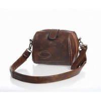Retro and Casual Women's Shoulder Bag With Solid Color and Metal Design