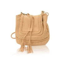 Retro Style Women's Crossbody Bag With Tassels and Weaving Design