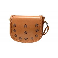 Retro Style Women's Crossbody Bag With Weaving and Openwork Design