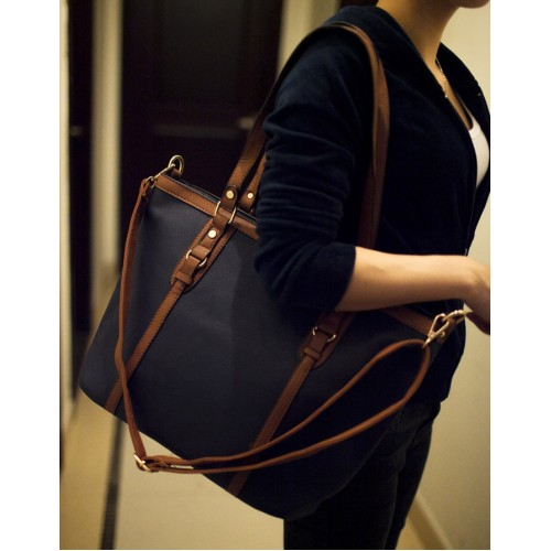 Simple Women s Shoulder Bag With Color Block and Rivets Design Zoom.  Product ... cb5e4942e3b5a