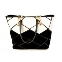 Stunning Women's Shoulder Bag With Color Matching and Metal Chain Design