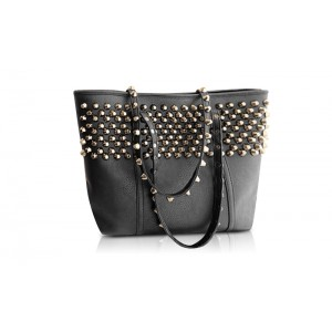 Stunning Women's Shoulder Bag With Rivets and PU Leather Design