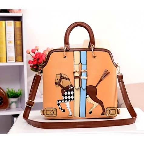 53c325c9e Stylish Women's Crossbody Bag With Pony Pattern and Buckle Design Zoom.  Product ...
