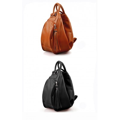 Stylish Women's PU Handbag Bag With Tassels and Solid Color Design