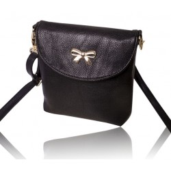 Sweet Women's Crossbody Bag With Bows and Solid Color Design