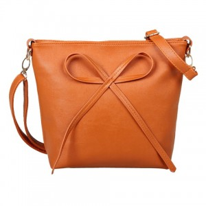 Sweet Women's Crossbody Bag With Solid Color and Bow Design
