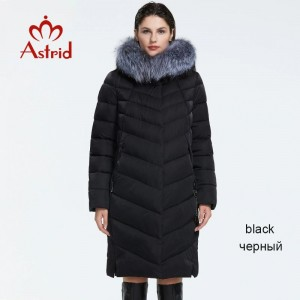 Astrid 2019 Winter new arrival down jacket women with a fur collar loose clothing outerwear quality women winter coat FR-2160 Black Green Gray