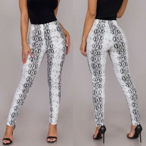 2020 Women Leggings Sexy Snake Skin Printing Leggings Autumn Spring Summer Polyester Push Up Keep Pants Fashion Women Leggings