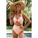 Pink Cut out One-piece Swimsuit