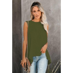 Green When In Doubt Relaxed Tank Top