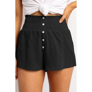 Orange Crapy Banner Shorts Black White
