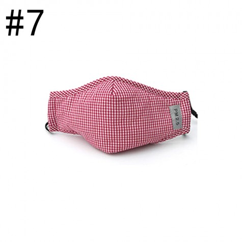 Cotton PM2.5 Black mouth Mask anti dust mask Activated