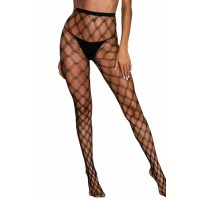 Crisscross Netted Pattern Pantyhose