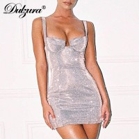 Glitter sparkle bling bodycon strap elegant backless