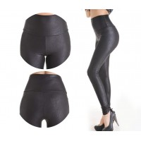 2018 New Sale Fashion Serpentine Sexy Leggings Womens Leggins Stretch High Waist quality Faux Leather Pants Plus Size YAK0010