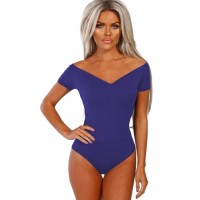 Blue Wild Love Bardot Bodysuit