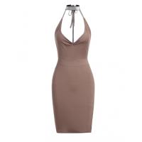 27d186b30b21 Adjustable Straps High Waist Asymmetrical Flowy Dress - Light Pink ...