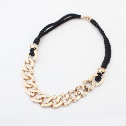 Punk Thick Chain Pendant Sweater Chain Necklace For Women