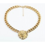 Versatile Lion Head Pendant Alloy Necklace For Women