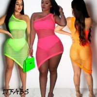 Mini Maxi Dress Club Party Beach Cover Up Bodycon Dresses Summer Sundress Orange Green Black Pink