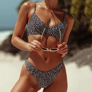 Polka dot Bikini 2019 underwire Bra swimsuit Woman bandeau swimwear female sexy bikini set push up brazilian bathing suit swim